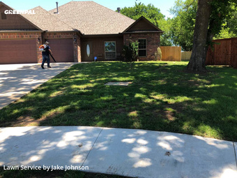 Grass Cutin Sand Springs,74063,Lawn Mowing Service by Mustang Mowing, work completed in May , 2020