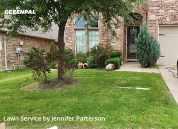 Lawn Cuttingin Roanoke,76262,Lawn Care Service by Jenni's Green Team, work completed in Jul , 2020