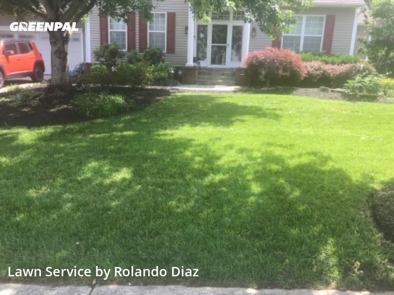 Lawn Cuttingin Bowie,20715,Lawn Maintenance by Diaz Landscaping Llc, work completed in Sep , 2020