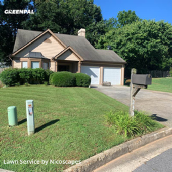 Lawn Cuttingin Alpharetta,30022,Yard Mowing by Nicoscapes, work completed in Jul , 2020