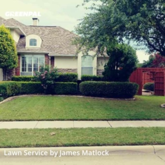Lawn Cutin Plano,75025,Grass Cutting by Matlock Facility Car, work completed in May , 2020