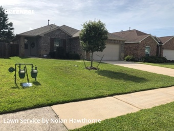Grass Cutin Tomball,77375,Lawn Care Service by Hawthorne Lawn Care, work completed in Jul , 2020