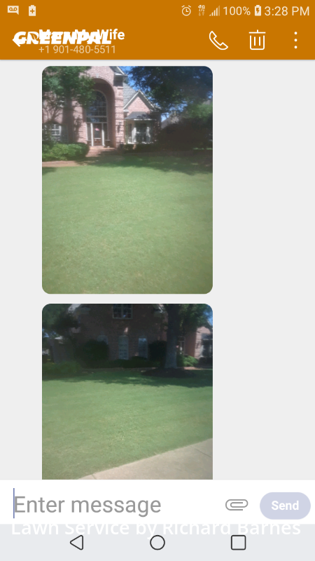 Lawn Mowingin Collierville,38017,Lawn Maintenance by Richard Barnes, work completed in Jul , 2020
