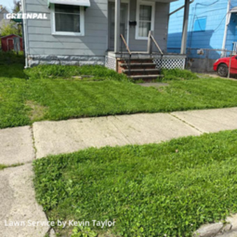 Grass Cutin Cleveland,44109,Yard Mowing by Taylor Rei Group, work completed in May , 2020