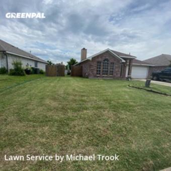 Grass Cutin Mansfield,76063,Lawn Care by Formed Earth Lawn, work completed in Aug , 2020