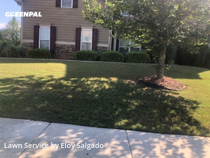 Lawn Mowing Servicein Auburn,30011,Lawn Care by Eloy Salgado's Lands, work completed in Oct , 2020