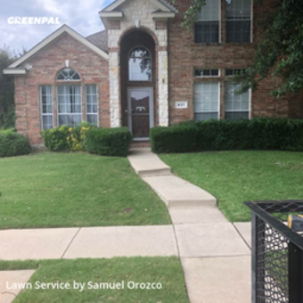 Lawn Servicein Lewisville,75067,Yard Cutting by H H Lawn Srvc, work completed in Jul , 2020
