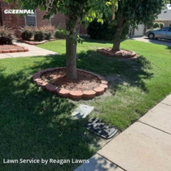 Lawn Carein Lewisville,75056,Lawn Cut by Reagan Lawns, work completed in Jul , 2020