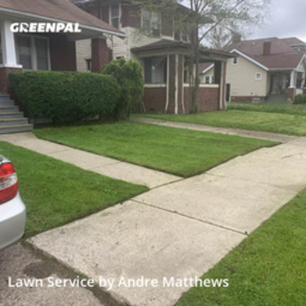 Lawn Maintenancein Detroit,48204,Yard Mowing by Afaroe Lawncare, work completed in May , 2020