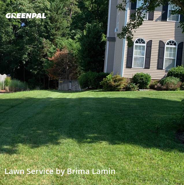 Lawn Servicein Greensboro,27406,Grass Cutting by Resurrection Lawn Svc, work completed in Aug , 2020