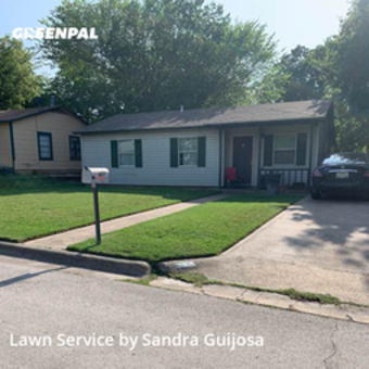 Lawn Maintenancein White Settlement,76108,Yard Mowing by Raccoon Lawn Service, work completed in Sep , 2020