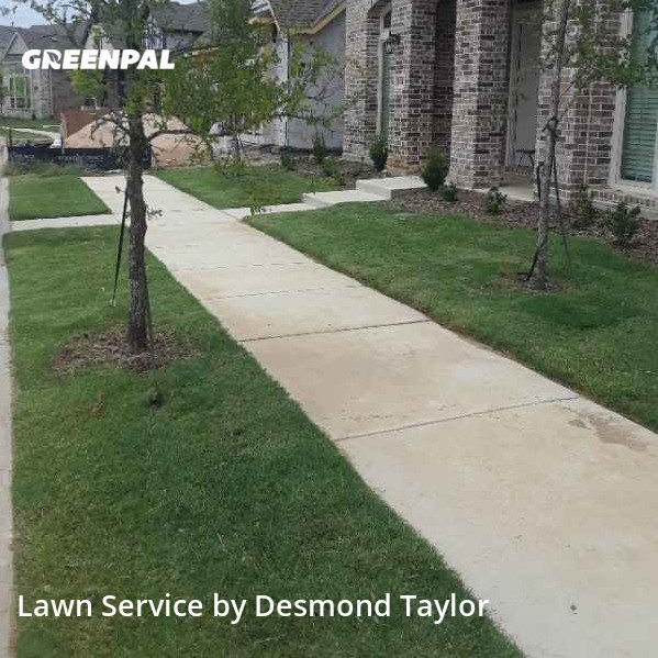 Lawn Cutin Carrollton,75006,Lawn Mow by Taylor Made Lawn , work completed in Aug , 2020