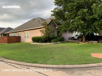 Lawn Servicein Cypress,77429,Grass Cut by Simply Mowed Service, work completed in Jul , 2020
