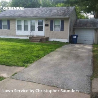 Yard Cuttingin Florissant,63031,Lawn Service by Saunders Lawn Care , work completed in Oct , 2020
