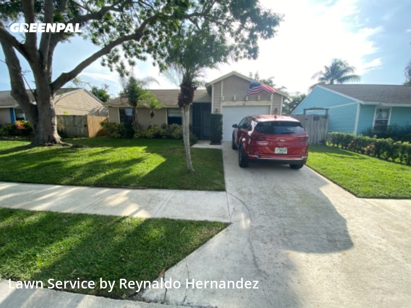 Lawn Cutin Jupiter,33458,Lawn Cut by Friendly Landscaping, work completed in Jul , 2020