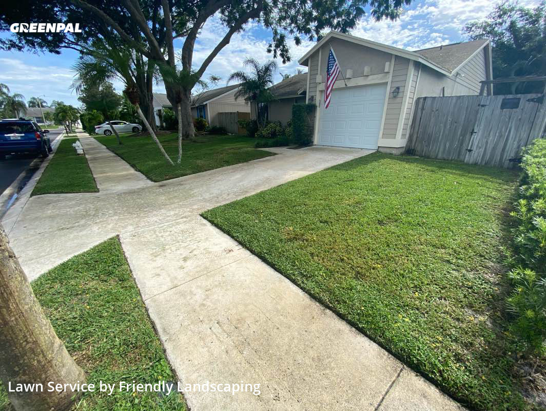 Lawn Carein Jupiter,33458,Lawn Mowing Service by Friendly Landscaping, work completed in Jul , 2020