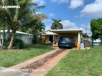 Lawn Mowing Servicein Fort Lauderdale,33334,Yard Cutting by Lawn Life, work completed in Jul , 2020