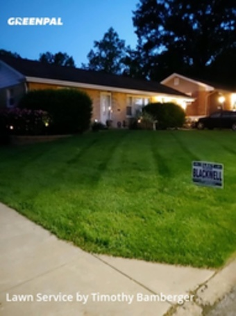 Lawn Cutin St Louis,63121,Grass Cut by Cutting Edge Lawn Ca, work completed in Aug , 2020