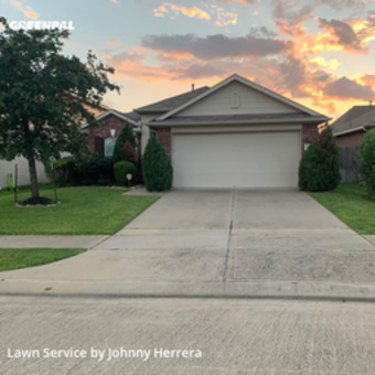 Yard Mowingin Cypress,77433,Lawn Care by Texas Landscape, work completed in Jul , 2020