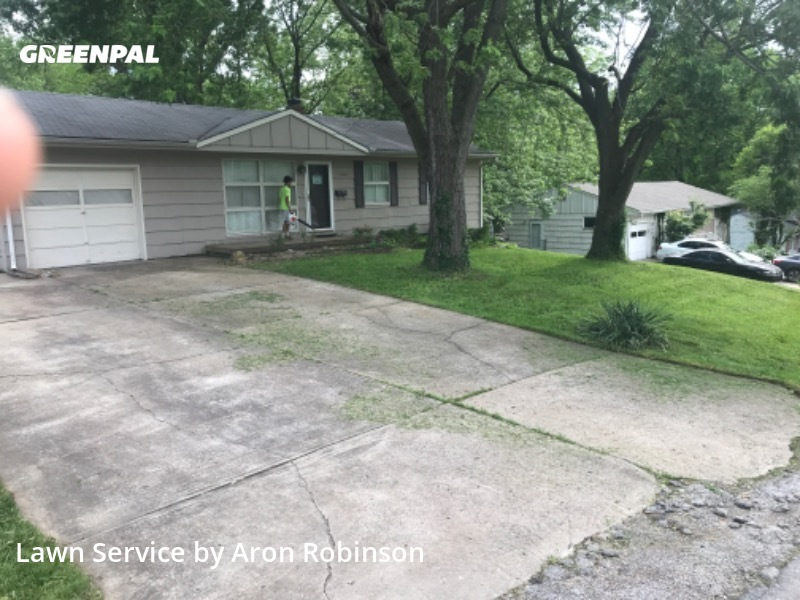 Lawn Care Servicein Kansas City,64133,Lawn Cutting by Aron&Sons Lawn Care , work completed in Jul , 2020