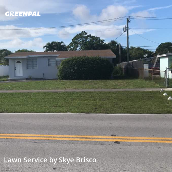Grass Cuttingin Oakland Park,33334,Yard Cutting by Shades Of Green, work completed in Aug , 2020