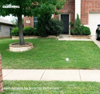 Lawn Servicein Fort Worth,76131,Lawn Maintenance by Jenni's Green Team, work completed in May , 2020