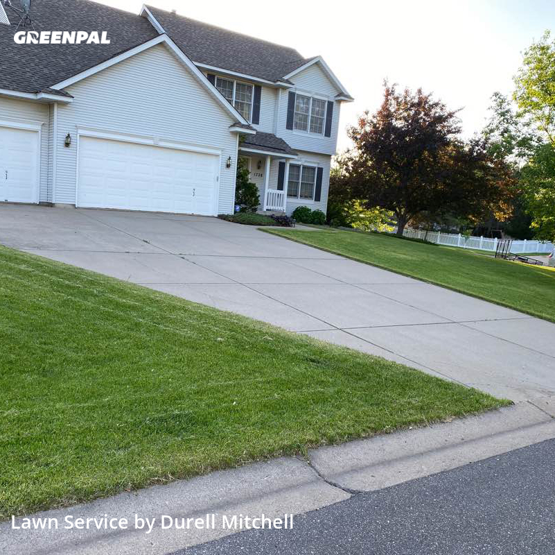 Lawn Cutin Woodbury,55125,Lawn Maintenance by Bound Landscaping , work completed in Aug , 2020