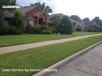 Lawn Carein Garland,75040,Lawn Mow by Aby Landscaping, work completed in Jul , 2020