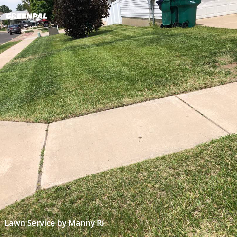 Lawn Cuttingin Roy,84067,Lawn Service by Sunny Side Mowe, work completed in Oct , 2020