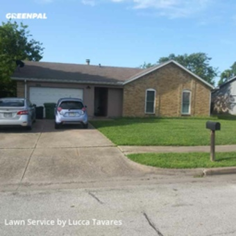 Grass Cutin North Richland Hills,76182,Lawn Care by L&J Landscape, work completed in Jul , 2020