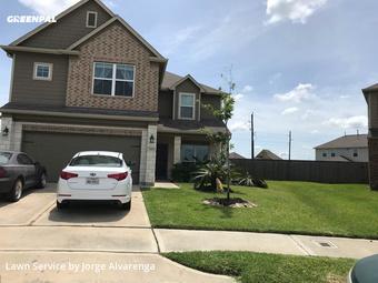 Grass Cuttingin Missouri City,77459,Lawn Maintenance by Blue Lagoon Landscap, work completed in Jul , 2020