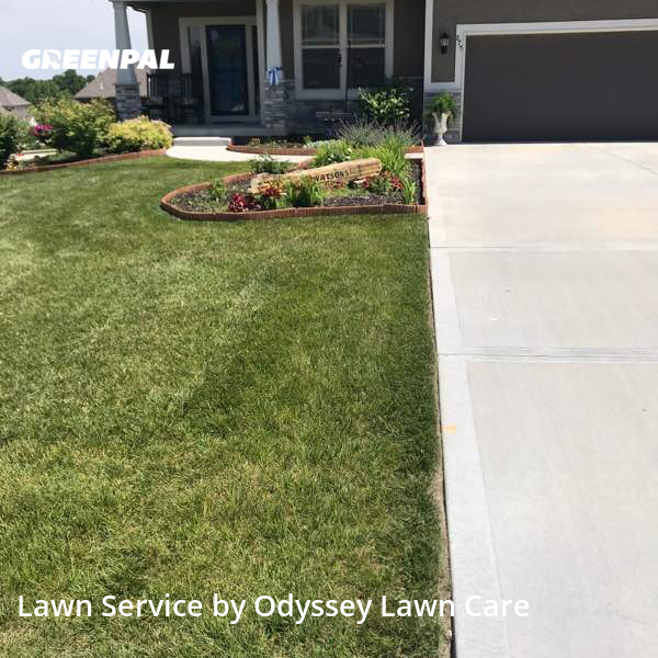 Yard Cuttingin Lansing,66043,Grass Cut by Odyssey Lawn Care, work completed in Jul , 2020