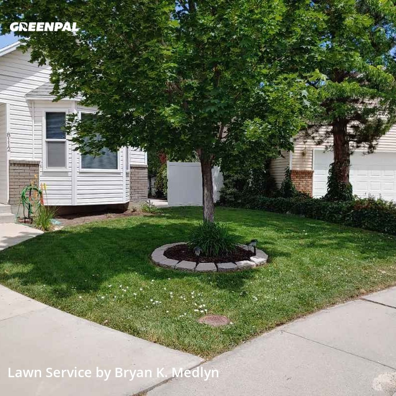 Yard Mowingin West Jordan,84088,Lawn Service by Medlyn Services, work completed in Jul , 2020
