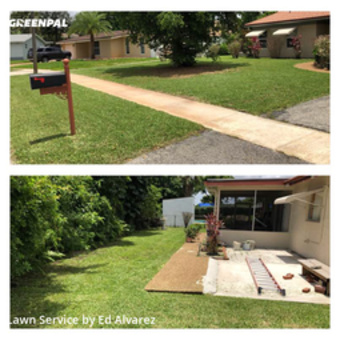 Yard Cutting in Pembroke Pines, 33024, Lawn Cutting by Edilson Landscaping, work completed in 29 May, 2020