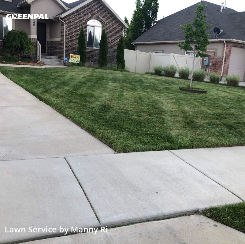 Lawn Maintenancein Layton,84041,Grass Cut by Sunny Side Mowe, work completed in Aug , 2020