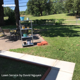 Lawn Mowing Servicein Richardson,75080,Grass Cutting by Greenscape Lawn Care, work completed in Jul , 2020