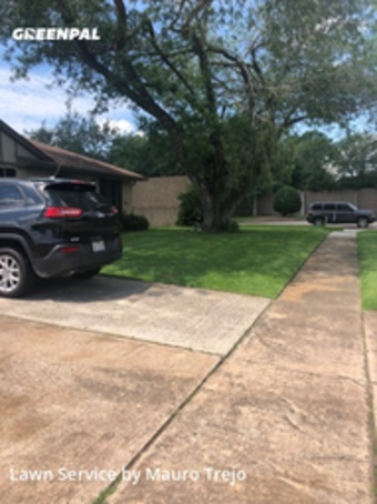 Lawn Mowingin League City,77573,Lawn Cutting by M&A Lawn, work completed in Jul , 2020