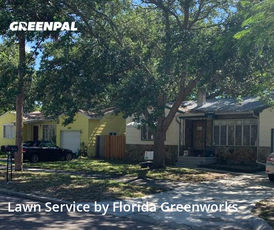 Lawn Cutin Gulfport,33707,Lawn Cutting by Florida Greenworks, work completed in Oct , 2020