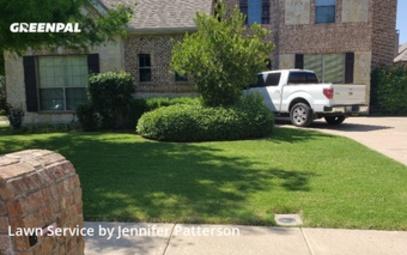 Lawn Maintenancein Keller,76248,Lawn Mow by Jenni's Green Team, work completed in Jul , 2020