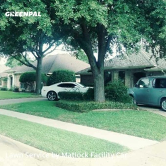 Lawn Mowing Servicein Richardson,75082,Lawn Care Service by Matlock Facility Car, work completed in Jul , 2020