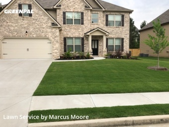 Yard Cuttingin Lawrenceville,30045,Grass Cut by Hedge Over Hills, work completed in Jul , 2020