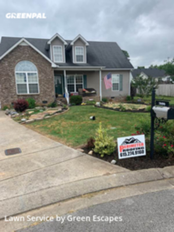 Lawn Maintenancein Murfreesboro,37127,Lawn Mowing by Green Escapes, work completed in Sep , 2020