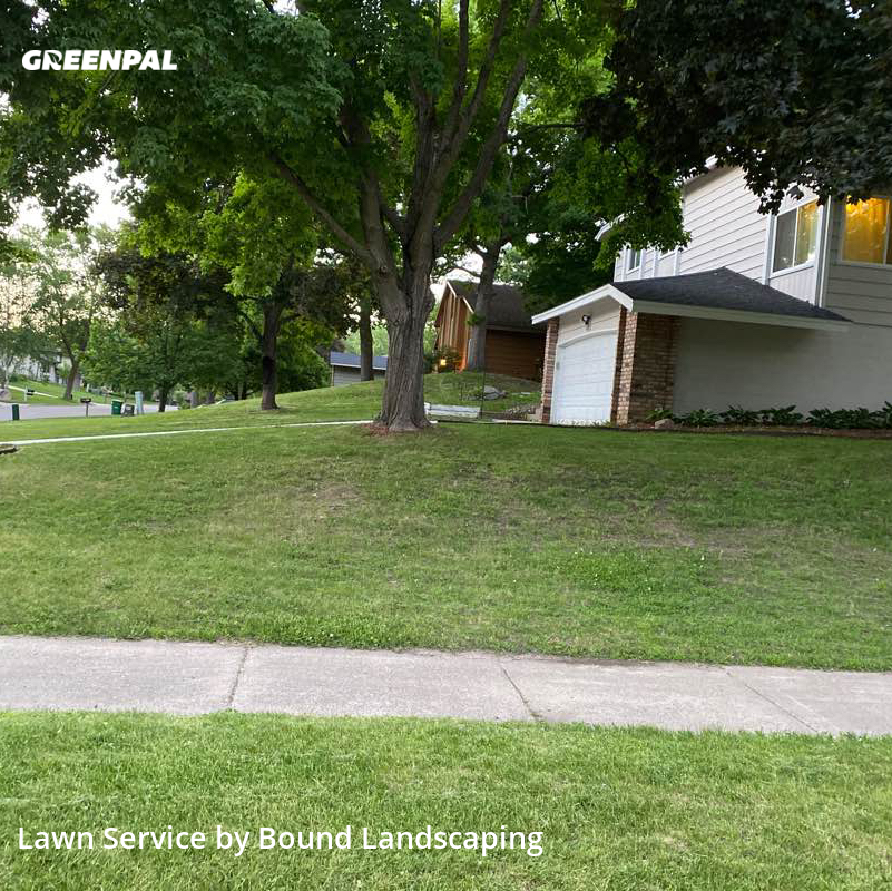 Lawn Cuttingin Burnsville,55337,Lawn Service by Bound Landscaping , work completed in Aug , 2020