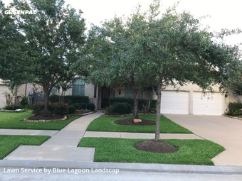 Lawn Carein Sugar Land,77479,Lawn Mowing Service by Blue Lagoon Landscap, work completed in Jul , 2020