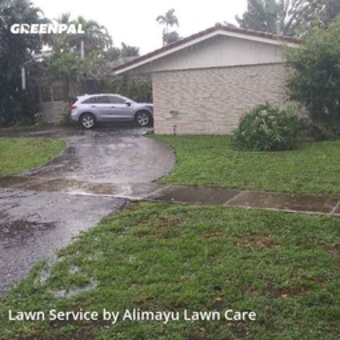 Lawn Mowingin Plantation,33317,Grass Cut by Alimayu Lawn Care, work completed in Jul , 2020