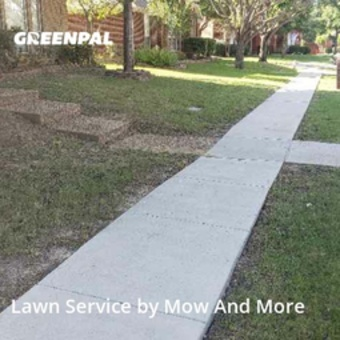 Lawn Cuttingin Lewisville,75067,Lawn Cut by Mow And More, work completed in Jul , 2020