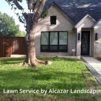 Yard Mowingin Lewisville,75067,Lawn Care Service by Alcazar Landscaping, work completed in Jul , 2020