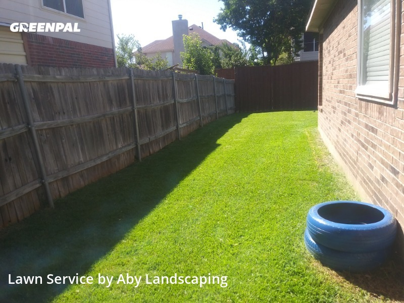 Yard Cuttingin Rowlett,75089,Grass Cutting by Aby Landscaping, work completed in Jul , 2020