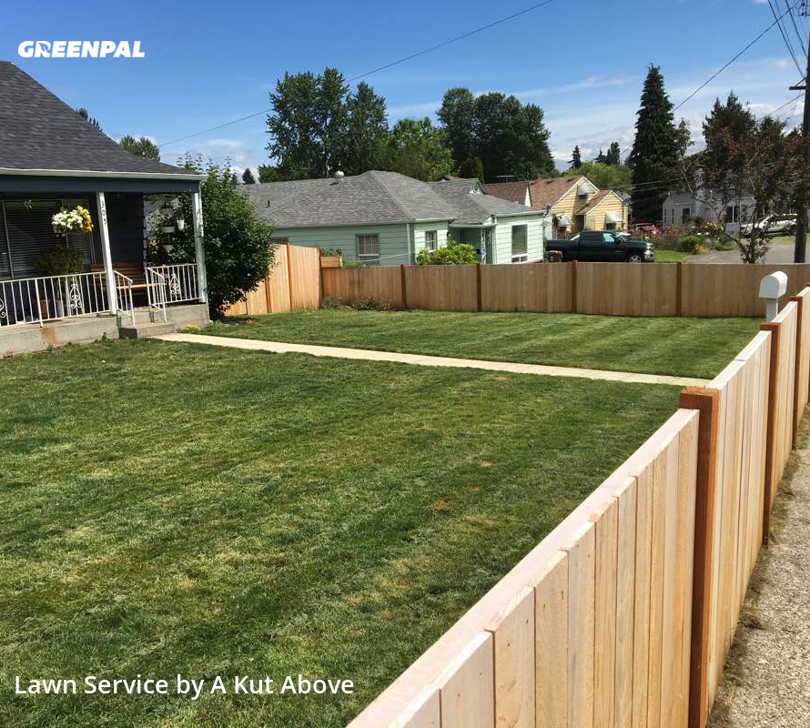 Lawn Carein Tacoma,98404,Lawn Cutting by A Kut Above , work completed in Aug , 2020