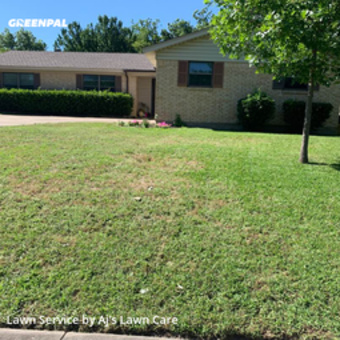 Lawn Mowingin North Richland Hills,76180,Lawn Maintenance by Aj's Lawn Care, work completed in Jul , 2020